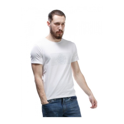 "T-SHIRT ""BOSS"" WITH WHITE EMBROIDERY"