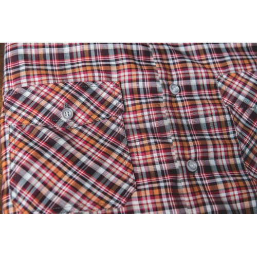 CHECKED SHIRT IN BROWN & RED