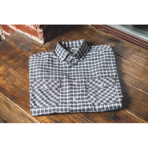 CHECKED SHIRT IN BLUE & WHITE
