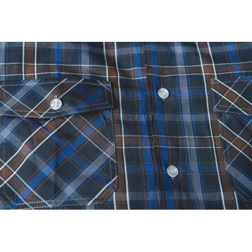 CHECKED SHIRT IN BROWN & BLUE