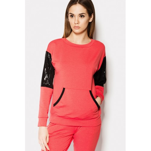 TAILORED STRETCH SWEAT SUIT RED & BLACK