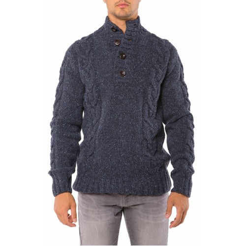 SWEATER BLUE WITH BUTTONS
