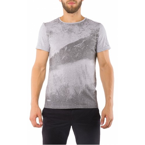 T-SHIRT GREY WITH PRINT