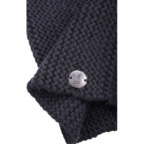 KNIT BEANIE ASPHALT COLOR