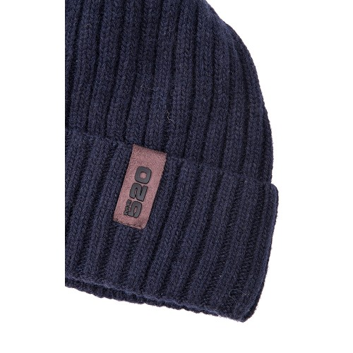 DARK BLUE WOOL BEANIE