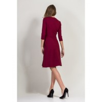 "DRESS ""BESSA"" BURGUNDY"