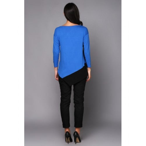 JUMPER BLUE WITH BLACK GUSSETS